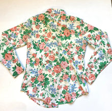 Load image into Gallery viewer, 70s fitted floral shirt by Sears jr bazar
