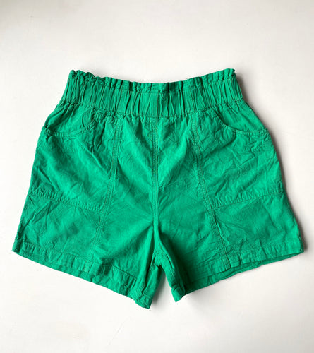 Green cotton paper bag waist 80s shorts L-xL