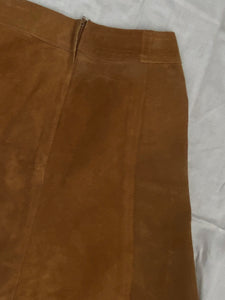 Suede 60s mini skirt