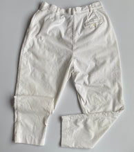 Load image into Gallery viewer, White corduroy high-waisted trousers