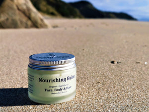 Ocean Gypsy Nourishing Balm 3:1 Face, Body & Hair, leaves your skin soft and hydrated. - Nutrition by Nature