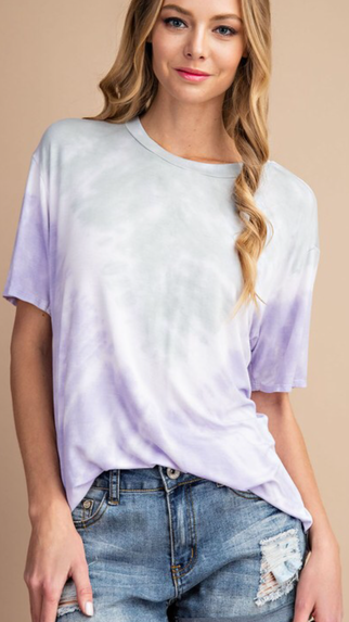 Sage and Lavender Tie Dye Tee
