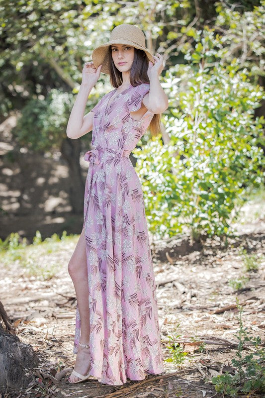 Penelope Maxi Dress - MAUVE/BROWN - J.MIKA