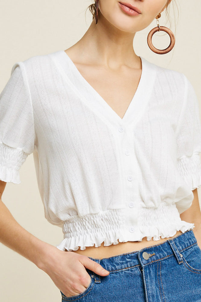 Valerie Knit Top - WHITE - J.MIKA