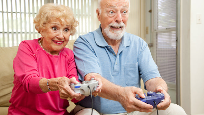 There is no age limit to appreciating rehabilitation through technology. Even computer gaming!