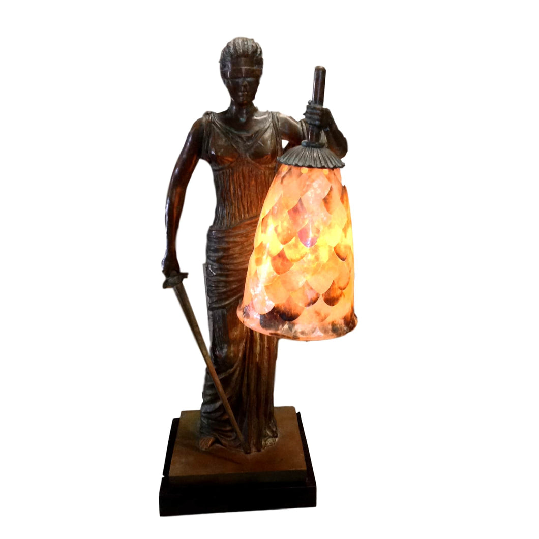 Lady of Justice Lamp