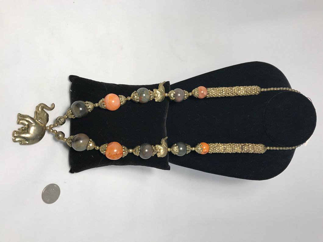 Indian Necklace with Elephants