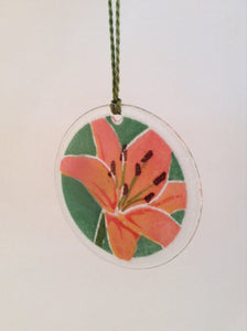 "Peggy Karr 3"" Ornament - Pink Lilly"