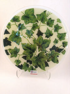 "Peggy Karr 11"" Round Plate -Ivy"