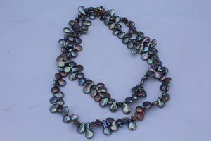 Cultured Peacock Irrodesent Keshi Pearl Necklace