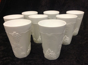 "6"" Milk Glass Tumbler- Set of 8 - alabamafurniture"