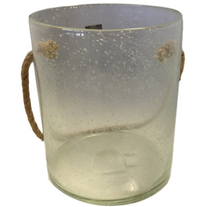 Large Glass Jar w/ Rope Handle