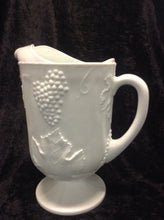 "Load image into Gallery viewer, Milk Glass Pitcher 10 1/2"" H x 9""W"