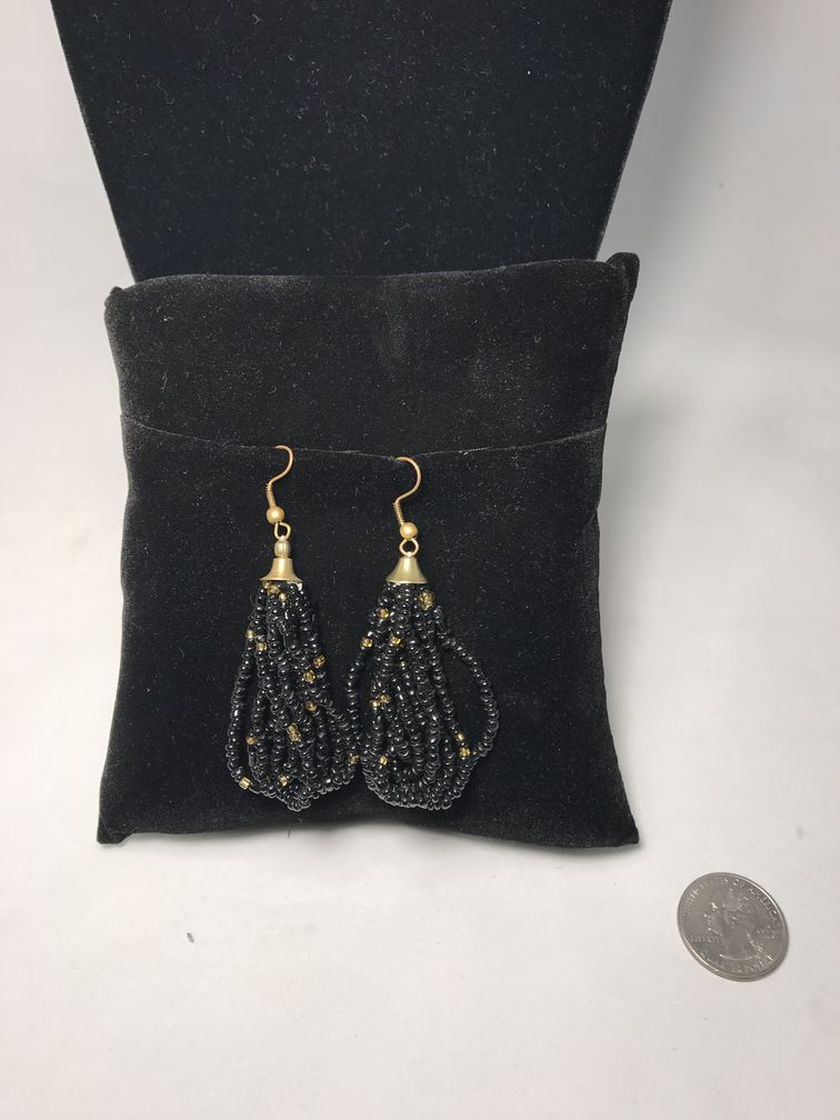 Black w/ Gold Earrings