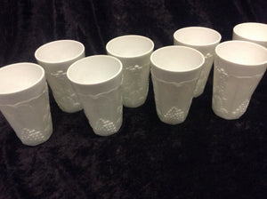 "4 3/4"" Milk Glass Tumbler - Set of 8 - alabamafurniture"