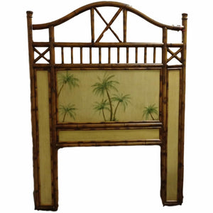 VIntage Bamboo Painted Twin Headboard