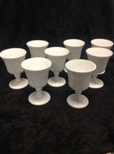 Load image into Gallery viewer, Milk Glass Water Goblet - Set of 8