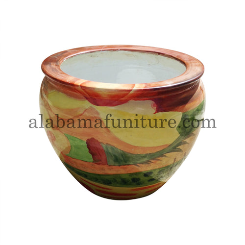 Painted Clay Planter