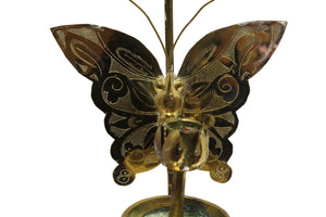 Brass Candle Holder w/ Butterfly