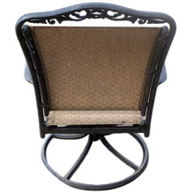 Load image into Gallery viewer, Pair of Black Metal Frame Patio Chairs