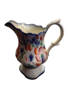 Glazed Floral Design Pitcher