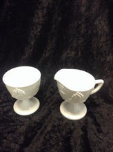 Load image into Gallery viewer, Milk Glass Creamer/Sugar - 2 PCS Set