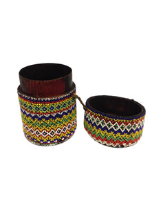 Dayak Borneo Beaded Canister