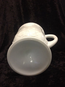 "Milk Glass Pitcher 10 1/2"" H x 9""W"