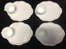 Load image into Gallery viewer, Milk Glass - Snack Plate w/ Cup - Set of 4
