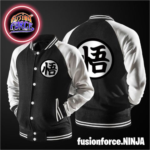Varsity Style Som Goku Jacket (Black, Blue and Orange Variants)