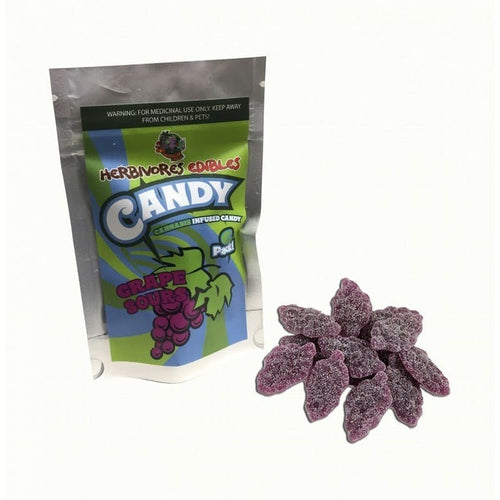 HERBIVORES EDIBLES GRAPE SOURS - The Cannabis Dispensary