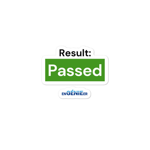 Result Passed the FE Exam Sticker