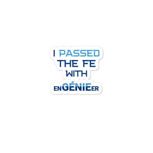 Passed the FE Exam with enGENIEer