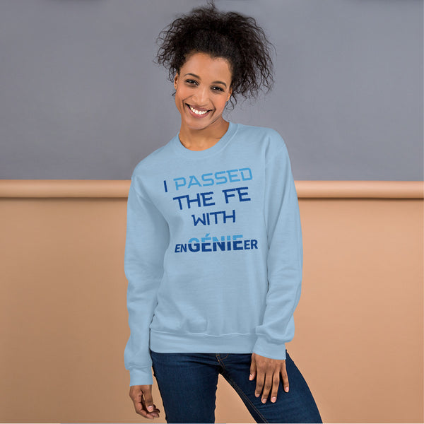 Passed the FE Exam with enGENIEer Sweatshirt for Female