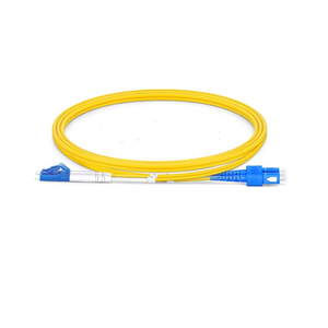 LC to SC UPC Duplex OS2 2.0mm PVC Fiber Patch Cable