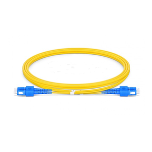 SC UPC to SC UPC Duplex OS2 Single Mode PVC (OFNR) 2.0mm Fiber Optic Patch Cable