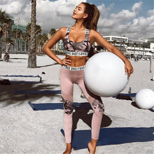 Load image into Gallery viewer, Pink Camo Yoga Set