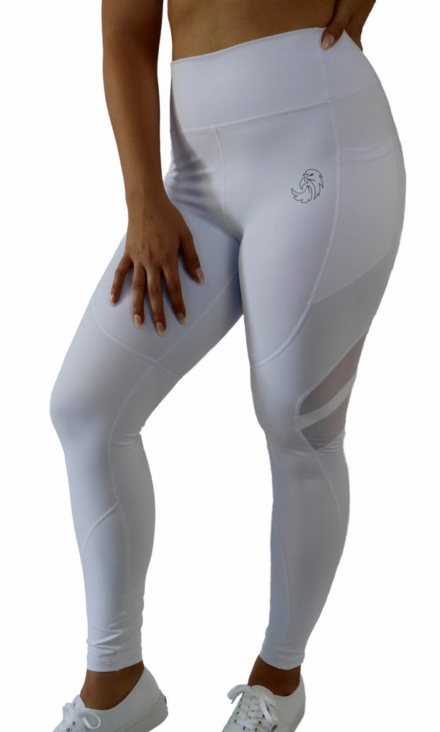 GENESIS POCKET LEGGINGS - WHITE