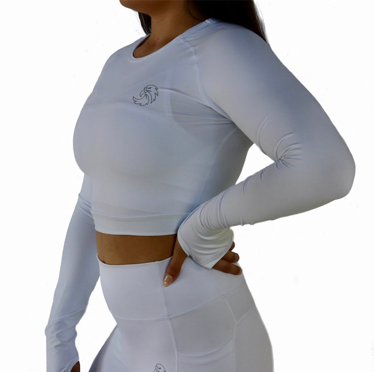 CROPPED LONG SLEEVE - WHITE