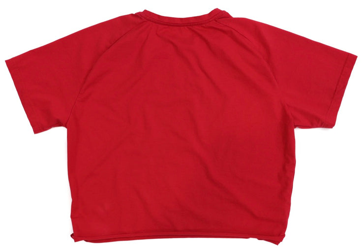 BOYFRIEND CROPPED LEGACY TEE - RED