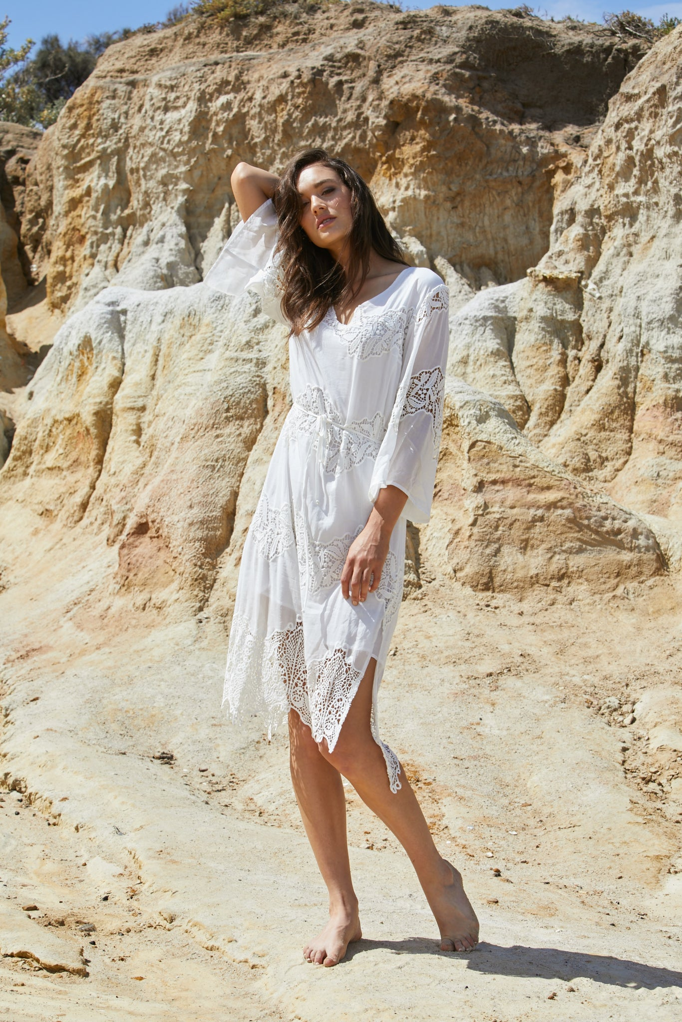 Naida Dress - Washed Silk Cotton