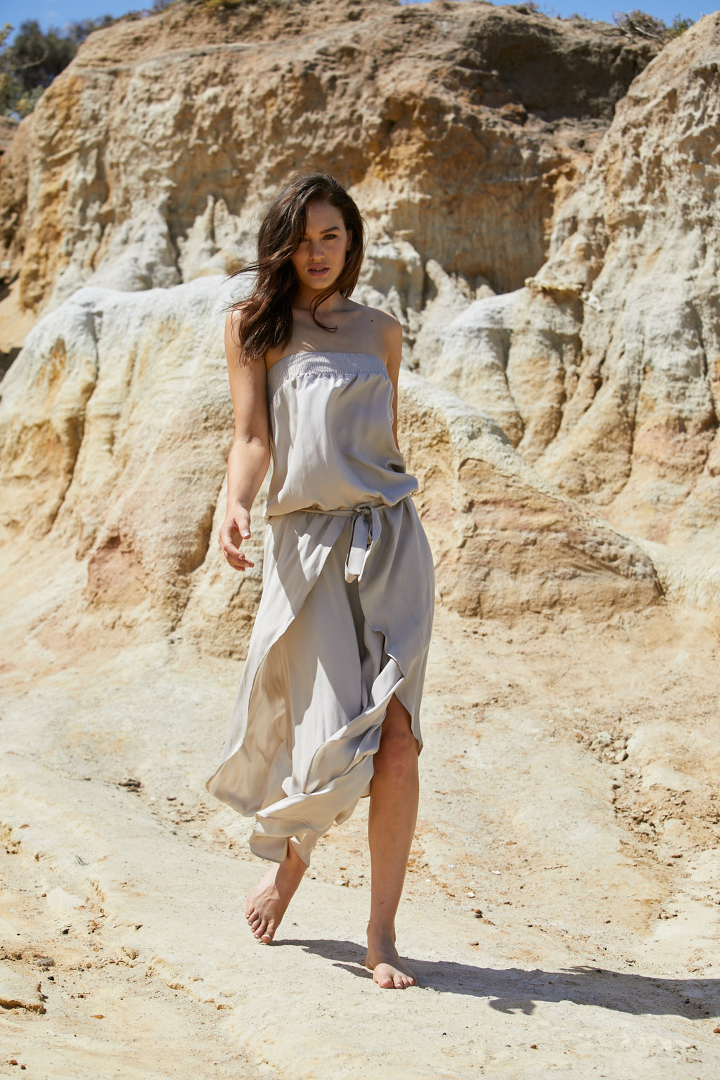 Radella Jumpsuit - Sand Washed Pure Silk