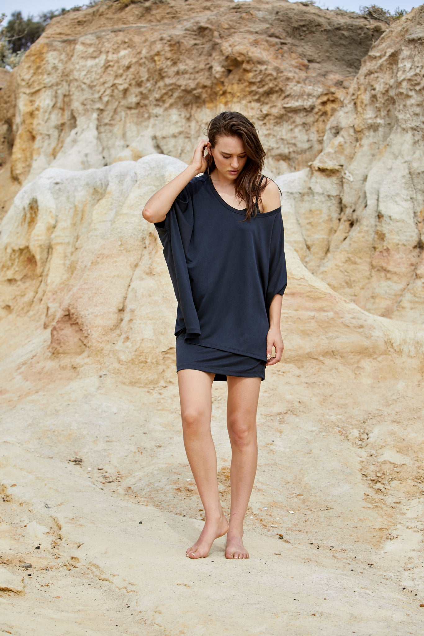 Hera Tee - Sand Washed Modal Jersey