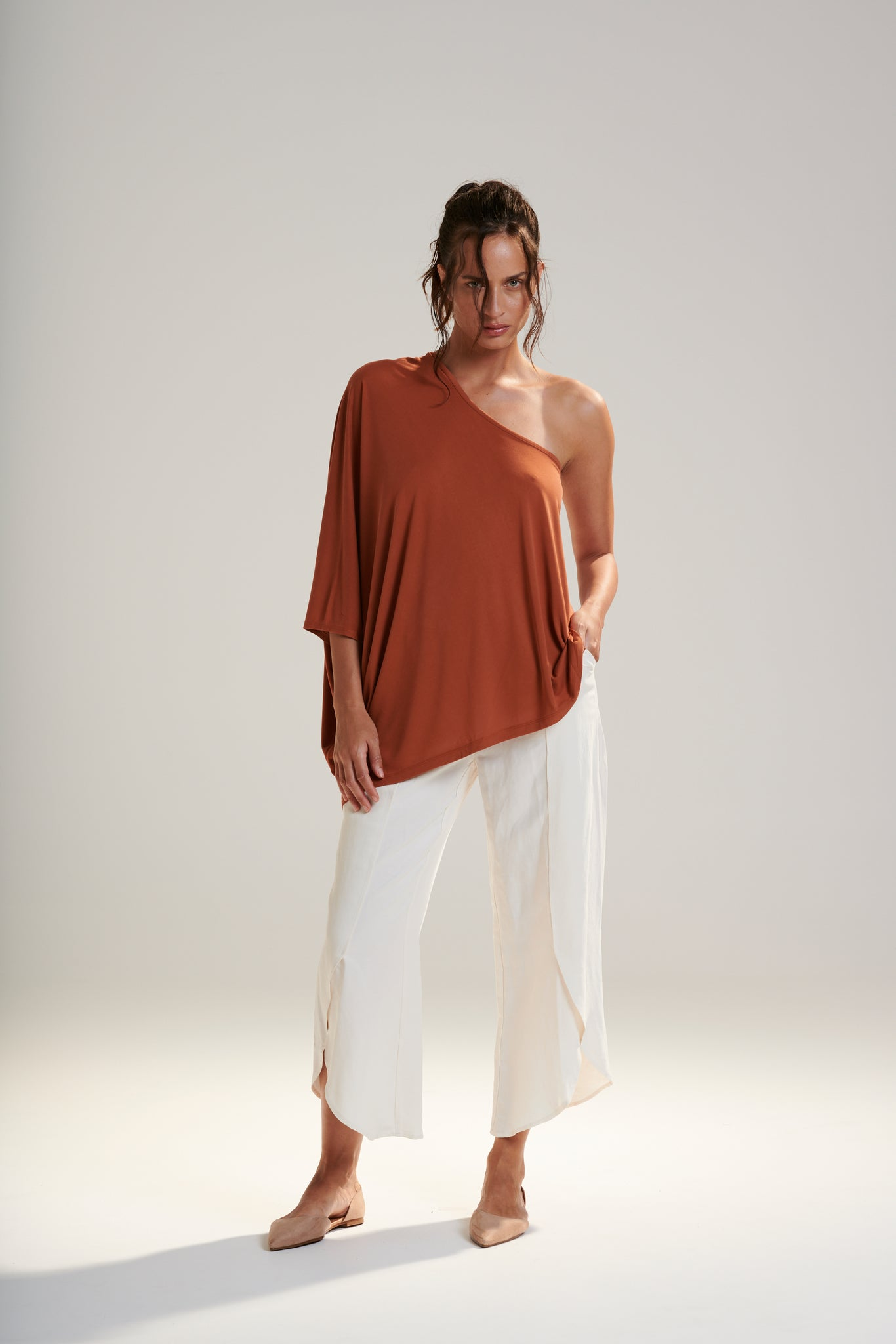 Athena Shoulder Top