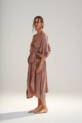 Aphrodite Silk Robe Dress