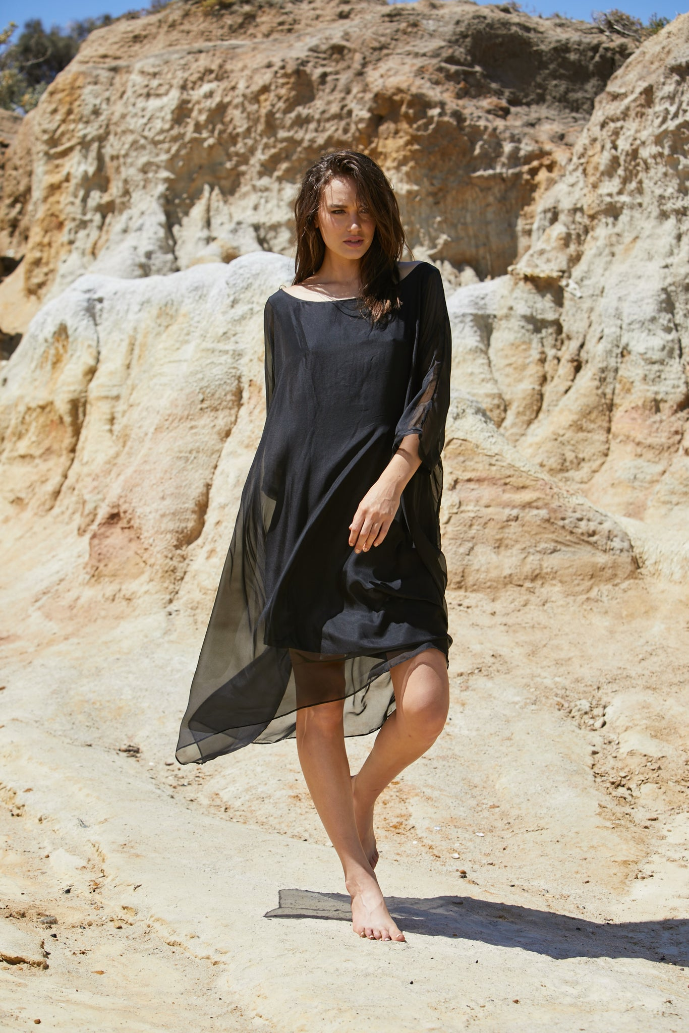 Vanyar Dress - Pure Silk Habitai Chiffon