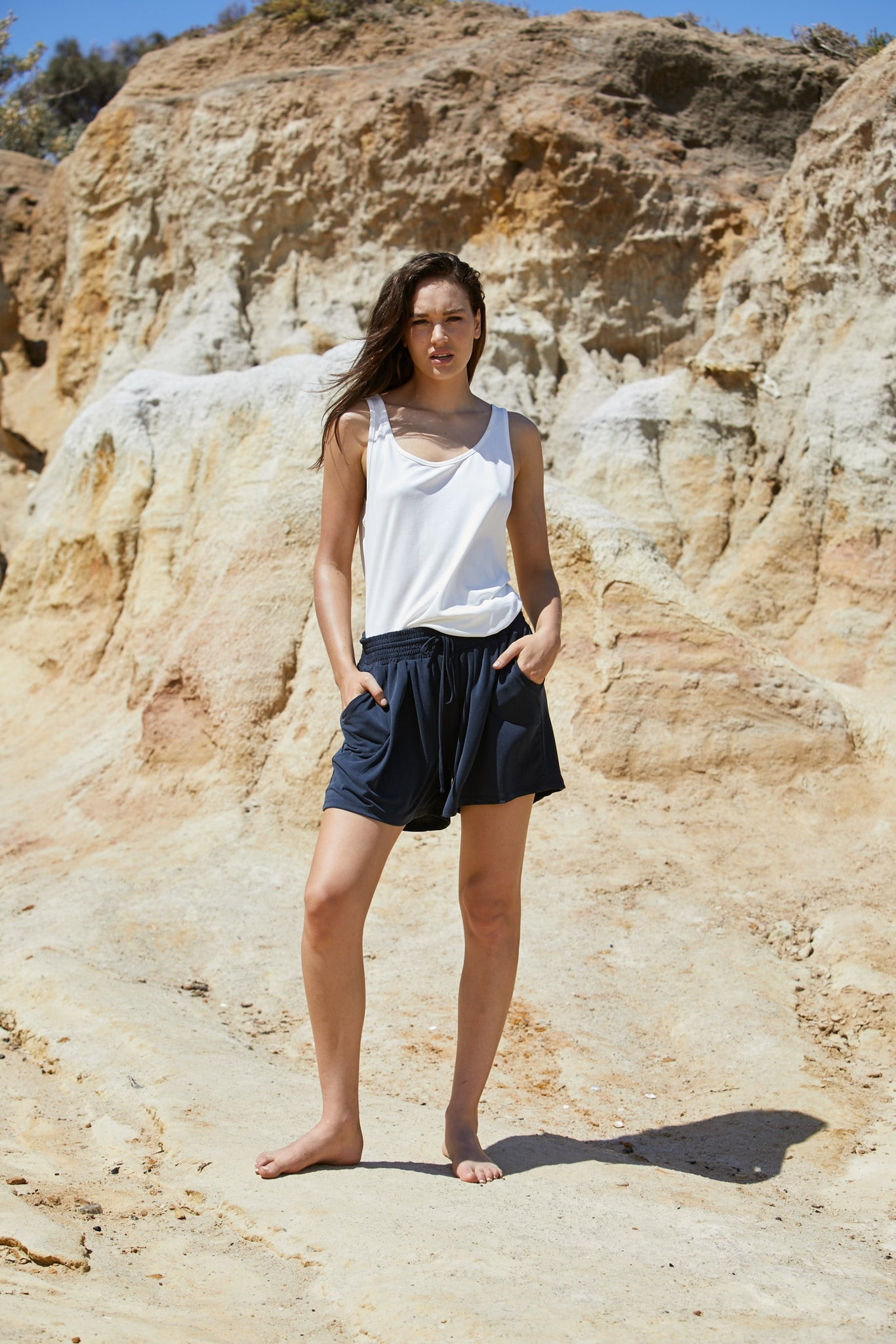 Apollo Short - Sand Washed Modal Jersey