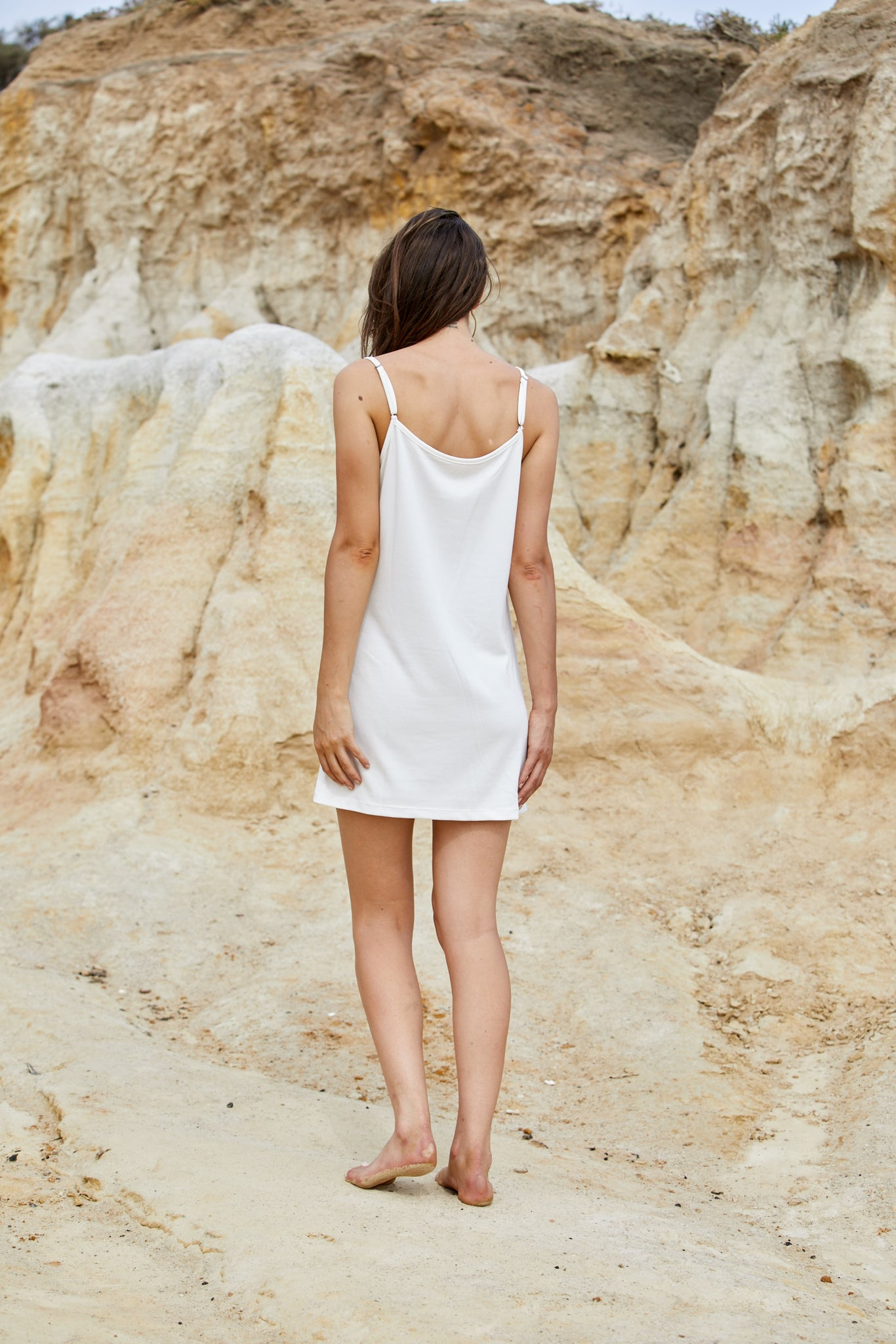 Tyche Longline Cami - Sand Washed Modal Jersey