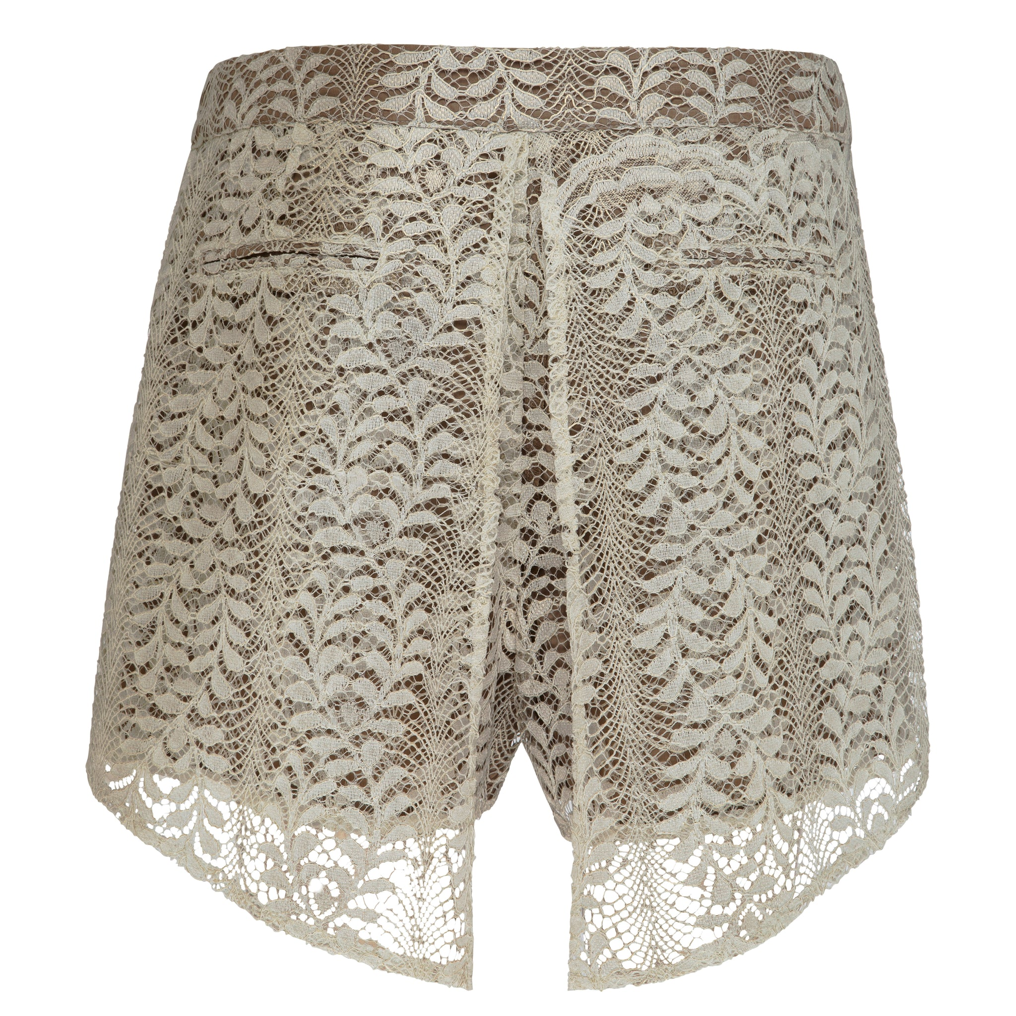 Atheia Short - Fine Lace with Gold Print