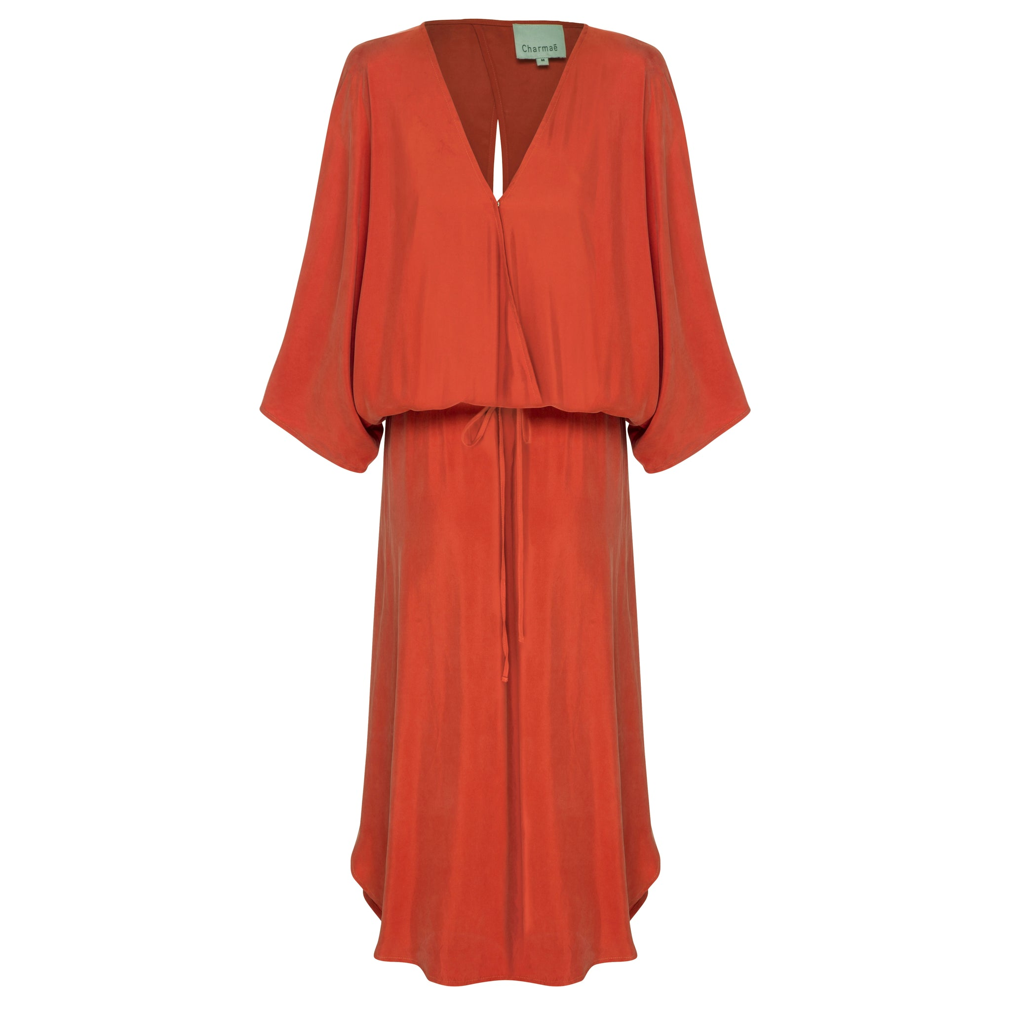 Caspian Dress - Peached Cupro